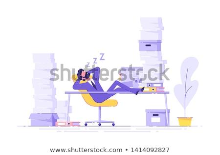 Nudny zadanie człowiek ołówki farbują Zdjęcia stock © Stocksnapper
