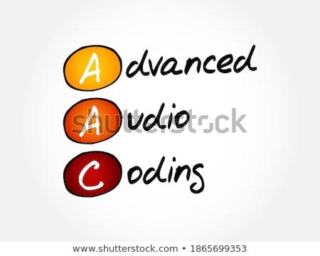 Akronim zaawansowany audio kodowanie napisany kredy Zdjęcia stock © bbbar