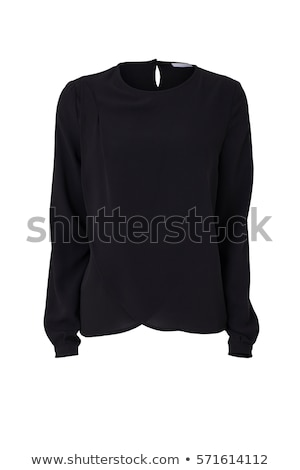Zwarte blouse mooie jonge asian vrouw Stockfoto © disorderly