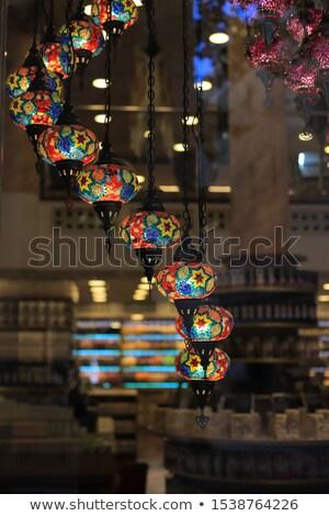 Tradicional vintage turco lâmpadas luz noite Foto stock © dashapetrenko