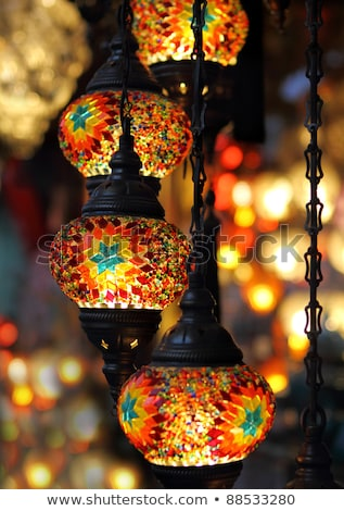 traditional vintage turkish lamps over light background stock photo © dashapetrenko
