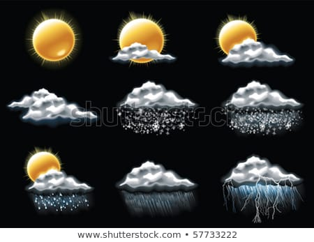 vector weather forecast icons part 4 stock photo © tele52
