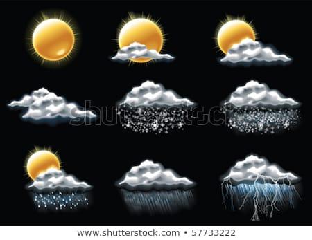 Vector weersvoorspellingspictogrammen deel 4 Stockfoto © tele52
