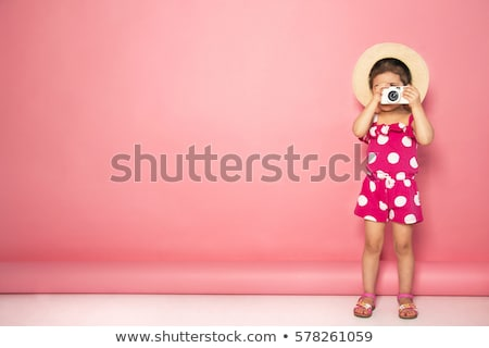 photographer and a funny beautiful girl model stock photo © iriana88w