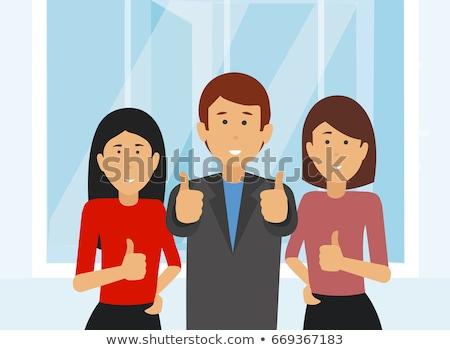 Сток-фото: �спаноязычный · бизнесмен · показывает · палец · вверх