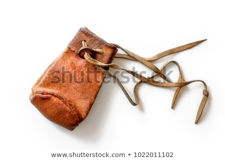 Coins in an old leather pouch Stock photo © photography33