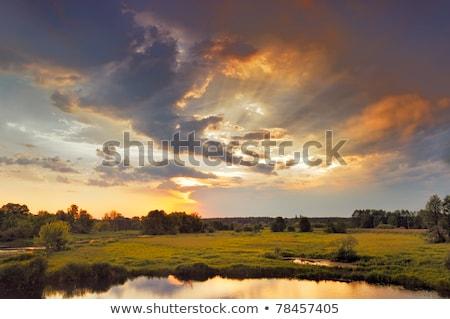 Paisagem dramático céu panorâmico cenário Foto stock © prill