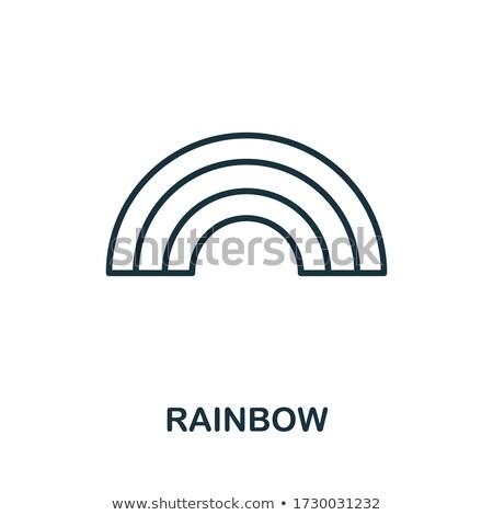 gökkuşağı · kalp · beyaz · sevmek · arka · plan · bayrak - stok fotoğraf © redkoala