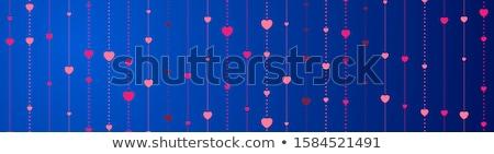 Rood Blauw harten een ander grijs Stockfoto © unweit