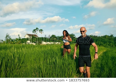 Landscape of mature sporty couple Stock photo © photography33