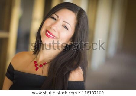 mooie · vrouw · toga · studio · portret · meisje · licht - stockfoto © pilgrimego