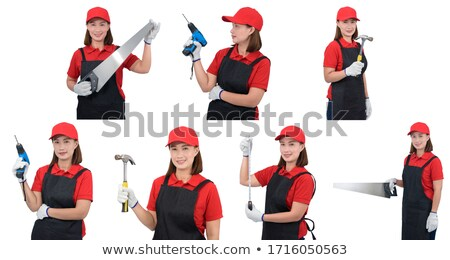 Woman armed with a power drill Stock photo © photography33