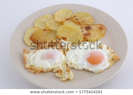 Fried Egg on Fried Potatoes Stock photo © ildi