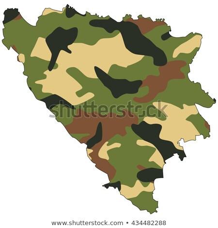 exército · Bósnia-Herzegovina · quadro · serviço · silhueta · lutar - foto stock © perysty