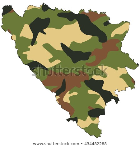 Ejército Bosnia Herzegovina marco servicio silueta lucha Foto stock © perysty