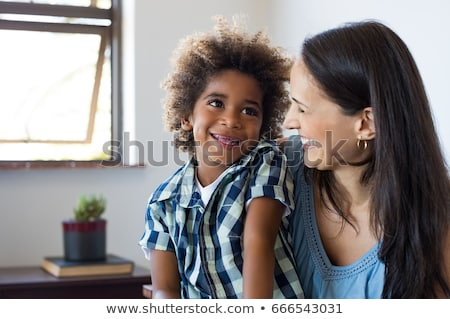 Mom playing with her adopted son. Stock photo © photography33