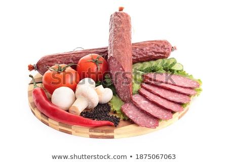 колбаса · овощей · красный · стороны · обеда - Сток-фото © shutswis