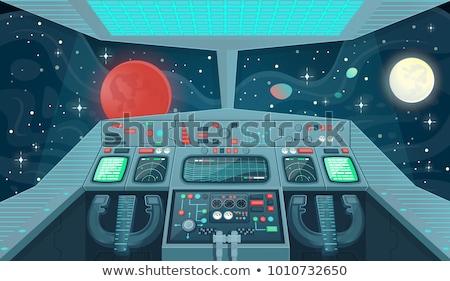Cartoon statek kosmiczny przestrzeń kosmiczna przyszłości ilustracja Zdjęcia stock © blamb