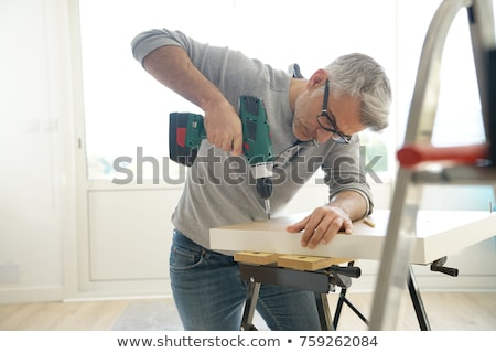 man with drill stock photo © photography33