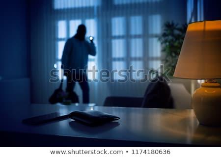 нарушитель привлекательный женщины красоту ночь черный Сток-фото © cboswell