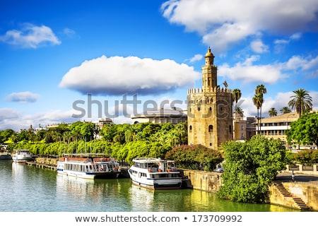 川 スペイン 空 建物 風景 夏 ストックフォト © inaquim