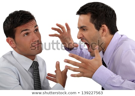 Man yelling at his apathetic colleague Stock photo © photography33