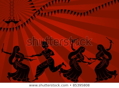 Stock photo: Abstract Diwali Background With Deepak Set