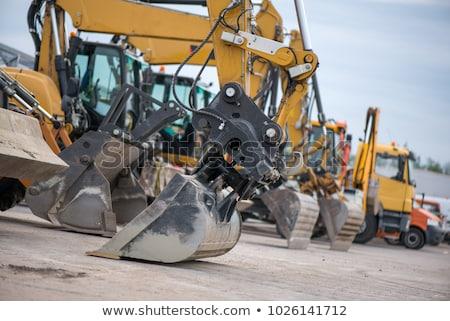 Parking excavator Stock photo © pongam