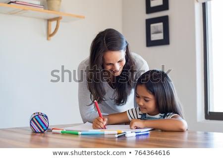 ストックフォト: 若い女性 · 女の子 · 作業 · 友達 · 教育