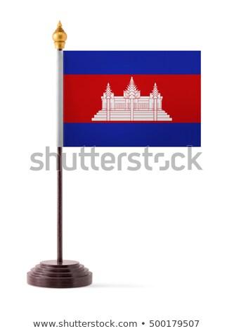 миниатюрный флаг Камбоджа изолированный заседание Сток-фото © bosphorus