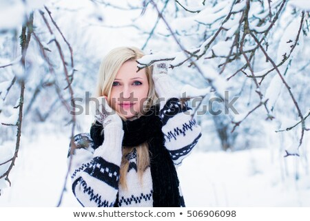 girl dressed in christmas theme stock photo © carlodapino