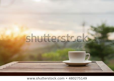 наслаждаться · чай · кафе · женщины · говорить - Сток-фото © oleksandro