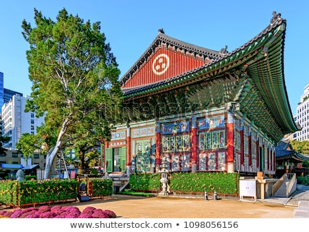 Detail of building - Buddhist temple Stock photo © pzaxe