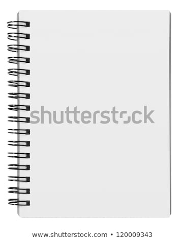 blank background. paper spiral notebook isolated on whit Stock photo © ozaiachin