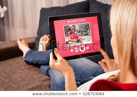 online · szeretet · társasági · média · ősz · internet - stock fotó © oblachko