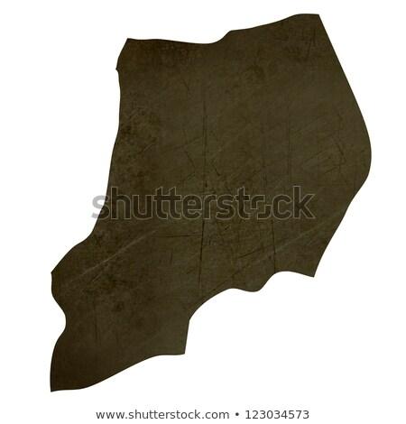 Sombre carte Ouganda isolé blanche Photo stock © speedfighter