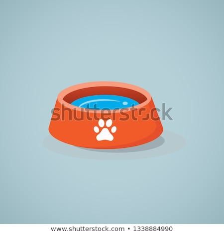 Plastic animal food and drink bowls Stock photo © photography33