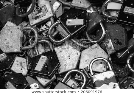 old lock in unlocked state isolated Stock photo © shutswis