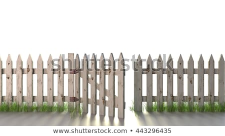 Picket Fence Grunge Stock photo © Lightsource