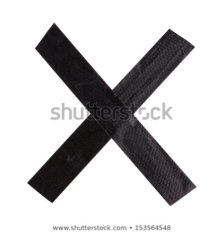 Two pieces of adhesive tape stuck together in a cross Stock photo © wavebreak_media