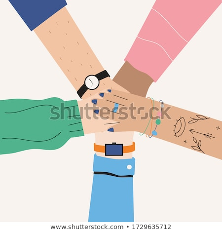 Foto stock: Male Hands Put Together In Achievment Sign Success Concept