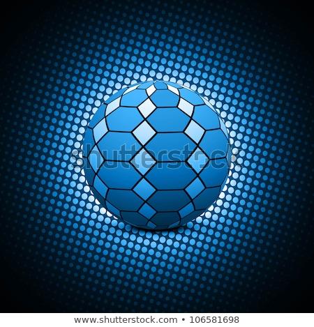 Abstrato azul futebol vetor artístico esportes Foto stock © bharat