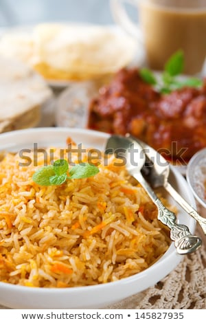 Indian Nasi Briyani Rice Dish Foto d'archivio © szefei