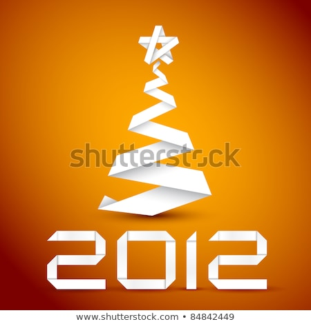 Yeni 2012 yıl turuncu kırmızı duvar kağıdı Stok fotoğraf © shutswis