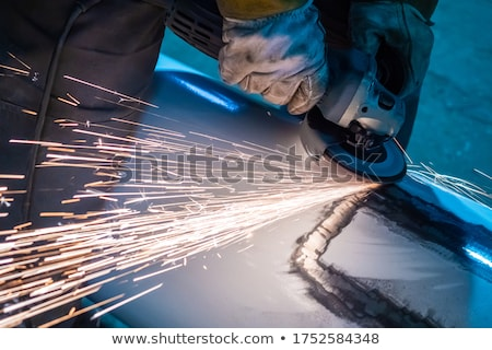 man holding angle grinder stock photo © photography33
