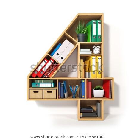 ilustração · 3d · grupo · documentos · escritório · papel - foto stock © kolobsek