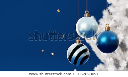 christmas card background with christmas lights stock photo © ratselmeister