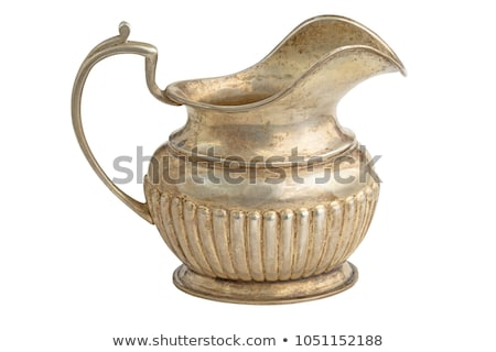 Antiquarian silver jug for milk Stock photo © yul30