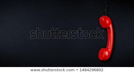 Сток-фото: красный · телефон · черный · телефон · технологий · кабеля