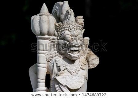 ストックフォト: 彫刻 · 兵士 · 入り口 · 白 · 寺 · 顔